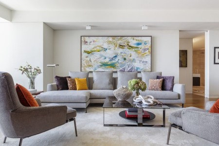 9 Ways to Style a Grey Sofa in Your Home   D    cor Aid Artwork is an integral part of any living room  And when styling a grey  sofa  make sure that your accesories reference the colors in your artwork