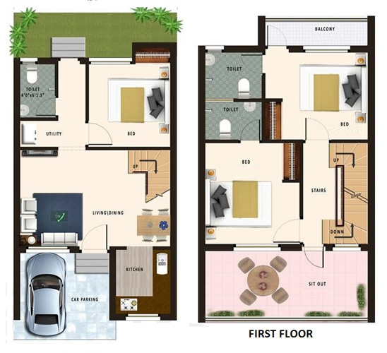 20 feet by 45 feet House Map   DecorChamp BackNext
