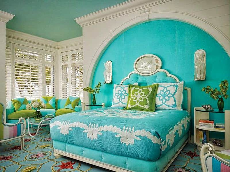 Turquoise Accent Chair Arms