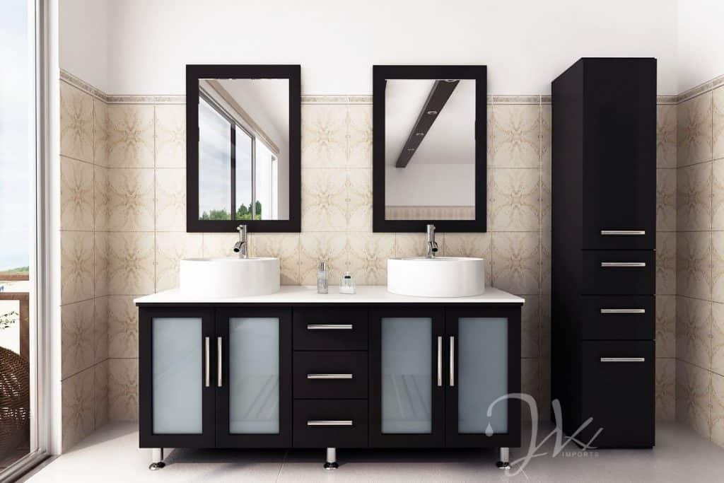 Very Cool Bathroom Vanity and Sink Ideas  Lots of Photos   59 inch Double Lune Large Vessel Sink Modern Contemporary Bathroom Vanity  with Phoenix Stone Top