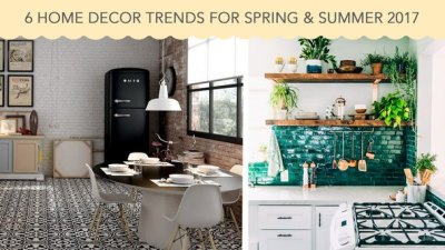 6 Home Decor Trends for Spring & Summer 2017   Déco Surfaces