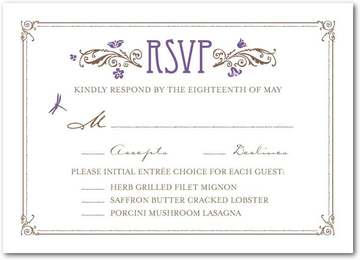 Wedding Invitations Rsvp