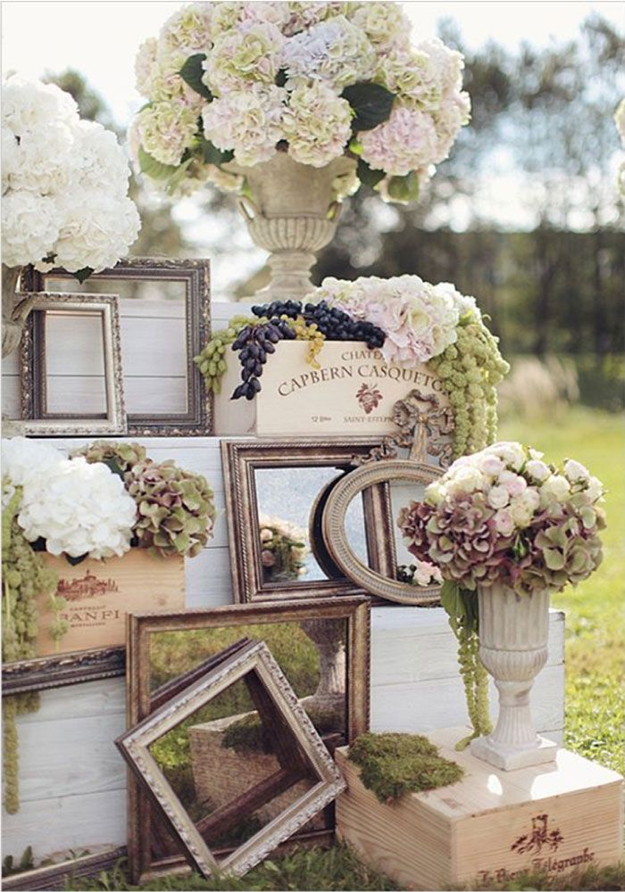25 Genius Vintage Wedding Decorations Ideas   Deer Pearl Flowers     Vintage Rustic Mirror Wedding Decor Ideas