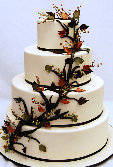 45 Incredible Fall Wedding Cakes That Wow Deer Pearl