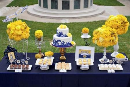Imágenes de Blue And Yellow Wedding Decor