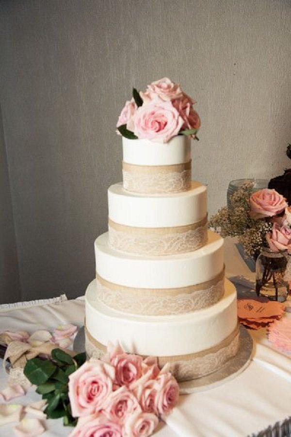 Rustic Bunting Wedding Invitations