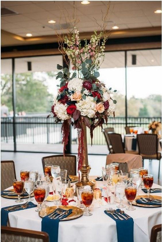 25 Burgundy And Navy Wedding Color Ideas Deer Pearl