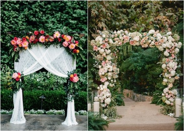 Top 20 Floral Wedding Arch Canopy Ideas   Deer Pearl Flowers floral wedding arch