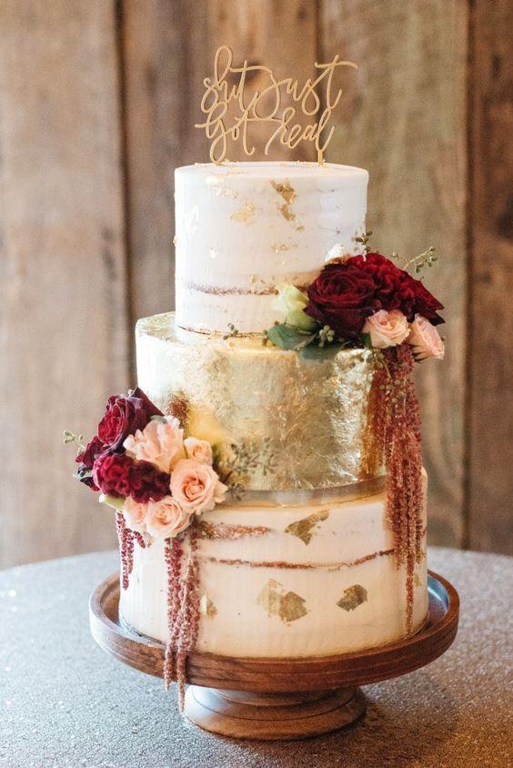 Top 20 Burgundy Wedding Cakes You Ll Love Deer Pearl Flowers