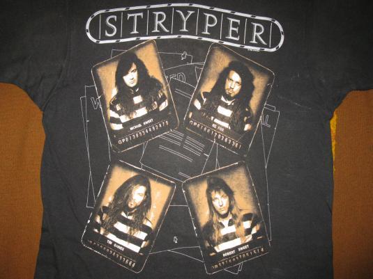 1990 Stryper Against The Law Vintage T Shirt