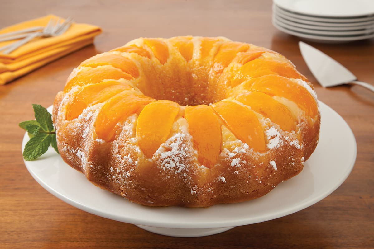 Double Peach Pound Cake Recipe Amp Instructions Del Monte