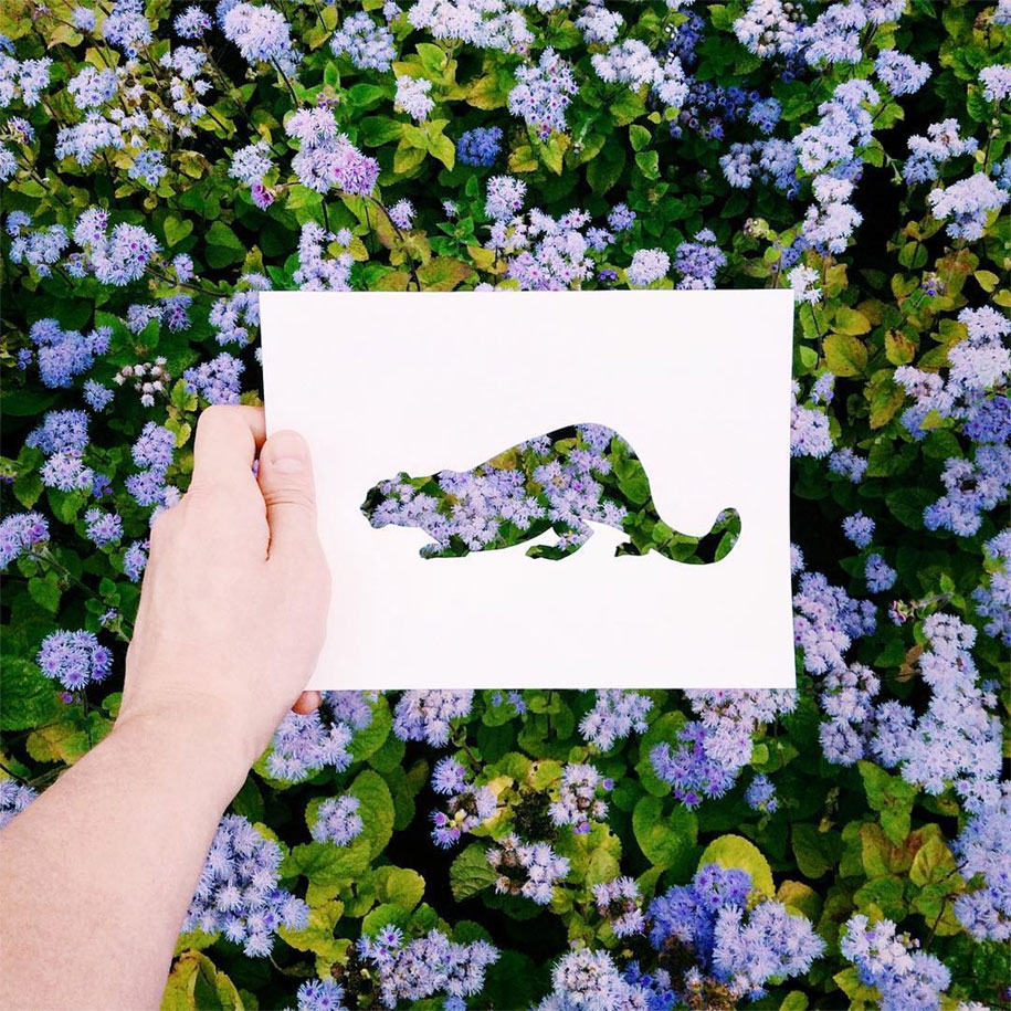 Artist Completes His Paper Cutouts Using Nature Demilked