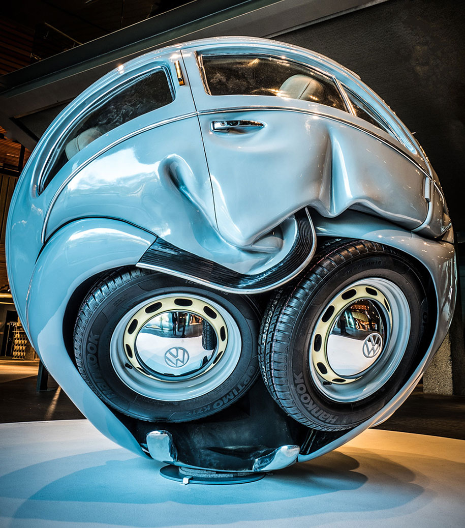 Artist Turns Full Size Vw Beetles Into Perfect Spheres Demilked
