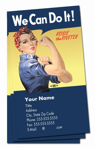 We Can Do It Rosie Verticle Business Cards Bc15392