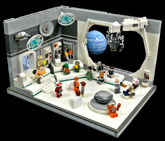 2017 LEGO     Building Contest   Denver Public Library Inside View of a Space Station made with LEGO     Building Blocks