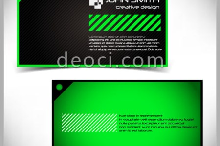 Green simple striped style of business card design Illustrator     Search this  business card in illustrator