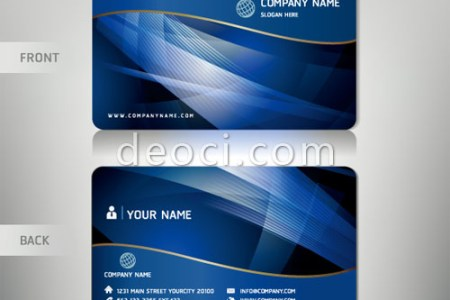Free vector blue wave background abstract business card design     com Free vector blue wave background abstract business card design template  illustrator EPS file