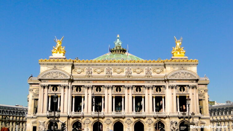 View from the Main facade of the Opera Garnier, took from Avenue de l'Opera.