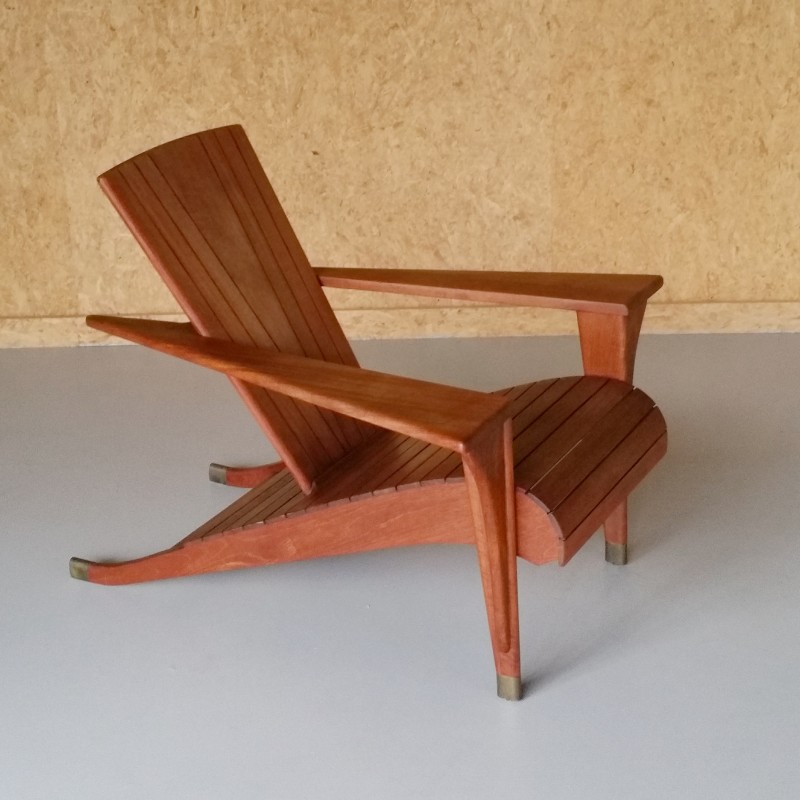 Mid century Meditation Chair by Klaus Wettergren for Teak Farm     Vintage Design Furniture