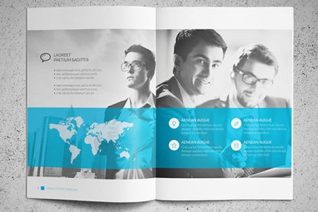 25 Really Beautiful Brochure Designs   Templates For Inspiration Trustx Blue Brochure Design Template 3