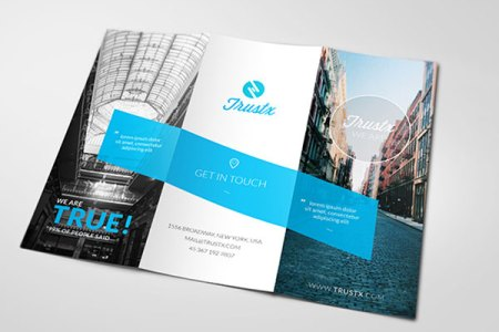 25 Really Beautiful Brochure Designs   Templates For Inspiration Trustx Corporate Tri fold Brochure Template