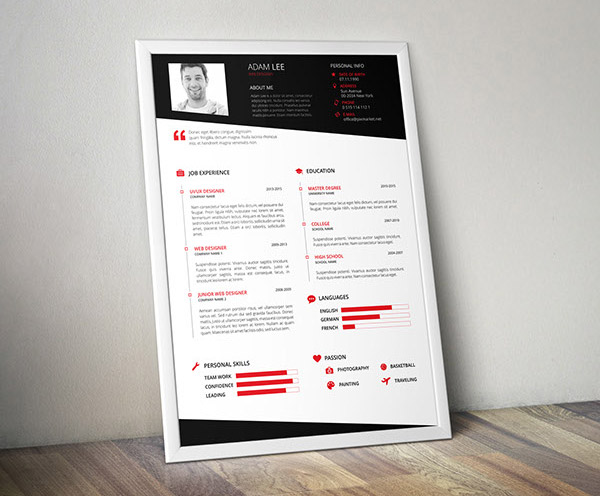 50  Beautiful Free Resume  CV  Templates in Ai  Indesign   PSD Formats Free Elegant Resume Template