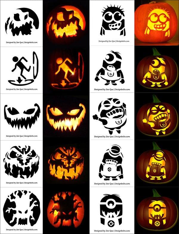Minion Pumpkin Templates Print
