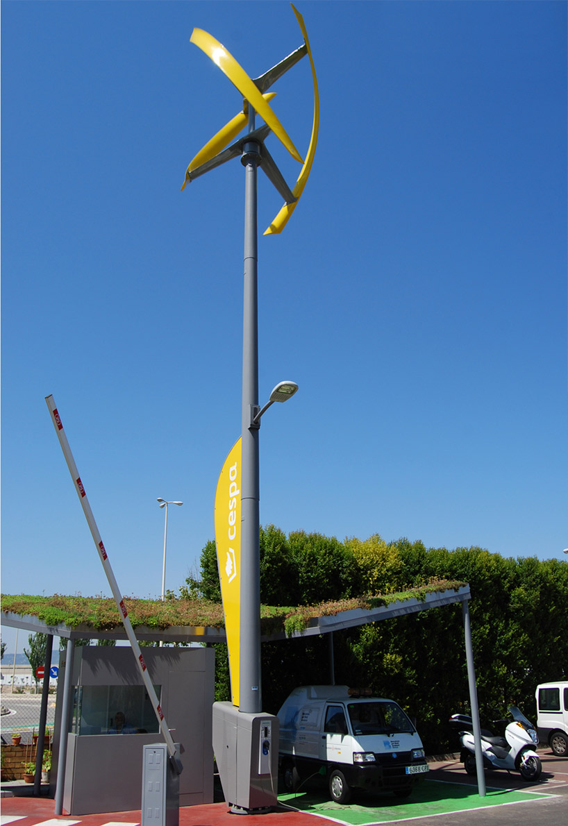 World S First Wind Powered Electric Charging Station