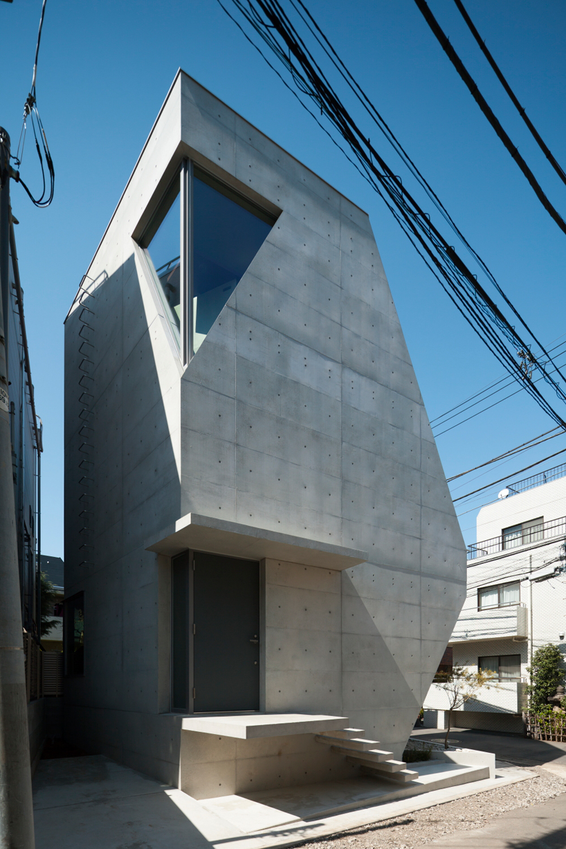 Atelier Tekuto S Exposed Concrete Home In Tokyo Displays A