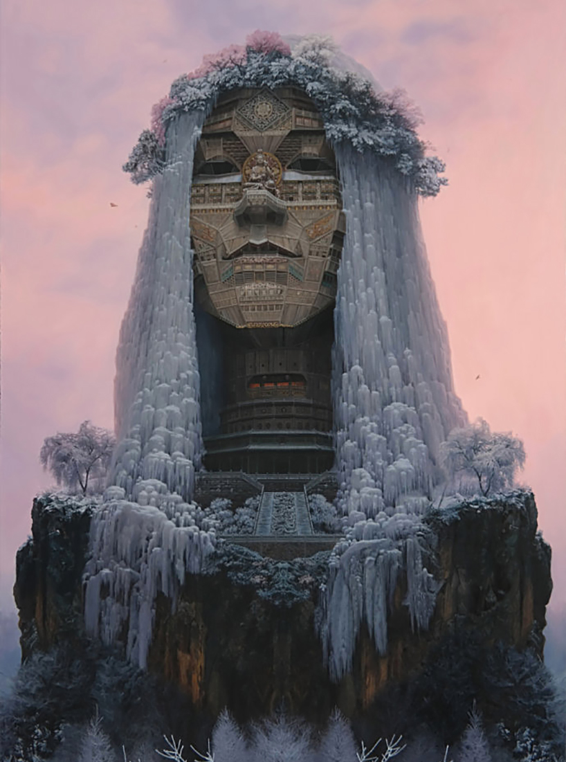 Chinese Artist Depicts Rockstars As Ancient Architectural