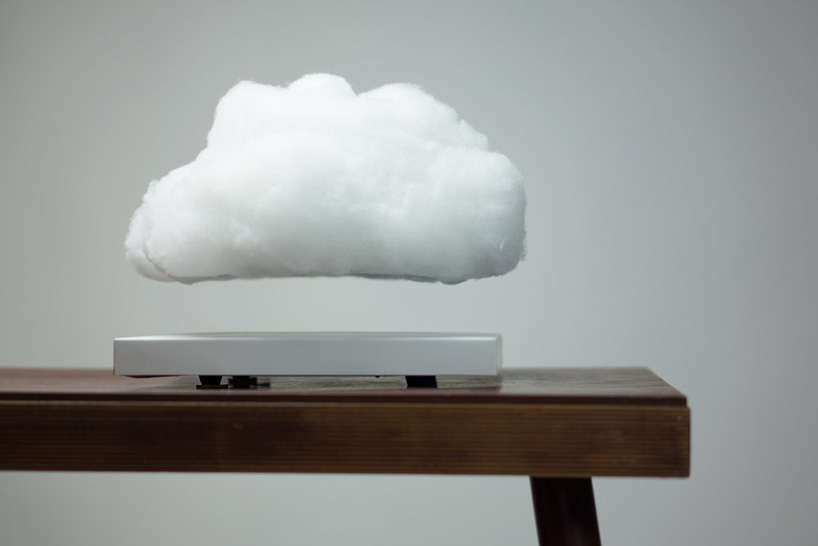 This Floating Cloud Lamp Magnetically Levitates And Pulses
