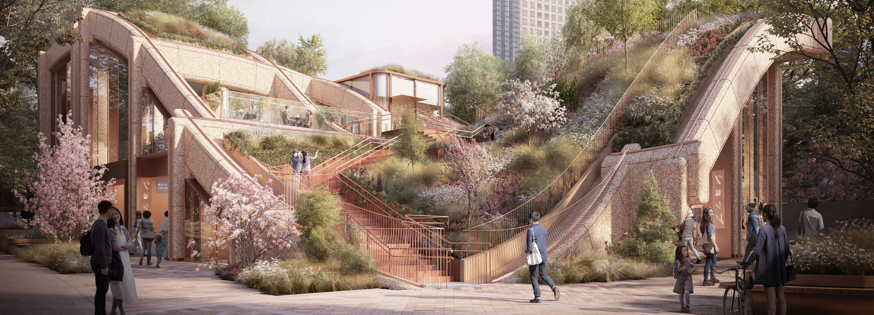 Heatherwick Studio Plans Planted Pergola For Tokyo