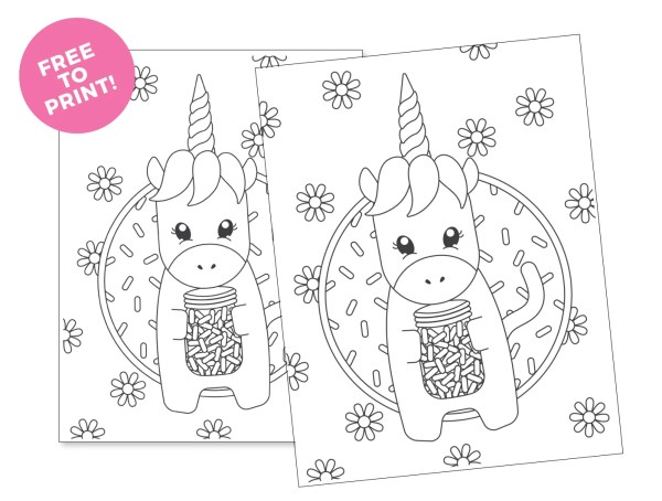 printable unicorn coloring pages # 23