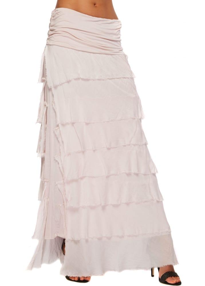 Sugar Babe Maxi Skirt Baby Pink Silk