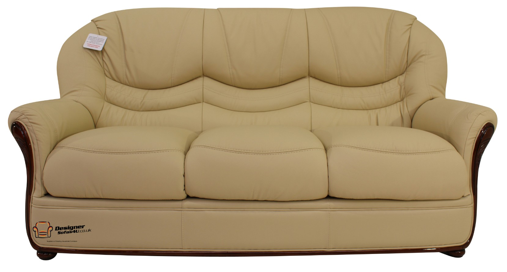Leather Cream Occasional Chair