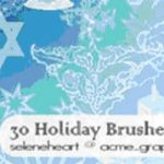 Photoshop and Illustrator Brushes for Your Holiday Design Projects