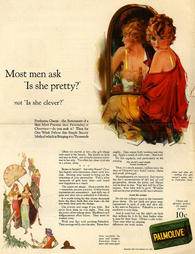 Palmolive ad from the 20s