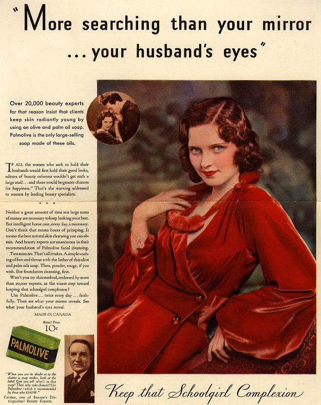 "Creepy Palmolive ad advises women to ""first hold their good looks,"" in order to ""hold their husbands."""