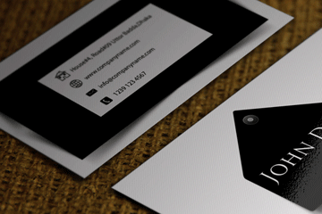 HD Decor Images » Free business card templates Download 1 Black and White free business card templates download modern black an white business card