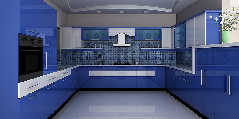 L Shaped Indian Modular Kitchen
