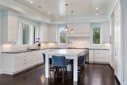 White Transitional Kitchen Mantoloking New Jersey By