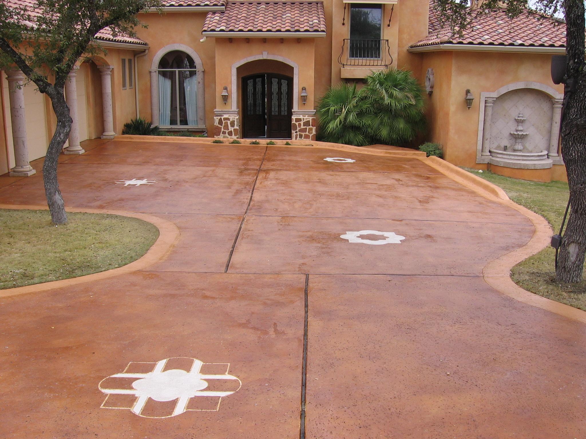 Acid Stained Concrete Patio Designs
