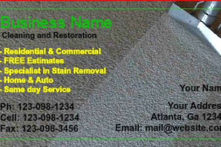 Carpet Cleaning Business Cards   DesignsnPrint Carpet Cleaning Business Card