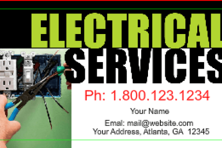 Electrician Business Card Designs   DesignsnPrint Electrician Business cards