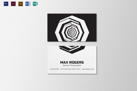 Creative Photography Business Cards   31 Examples Abstract Photographer Business Card Template Creative Photography Business  Cards   31 Examples