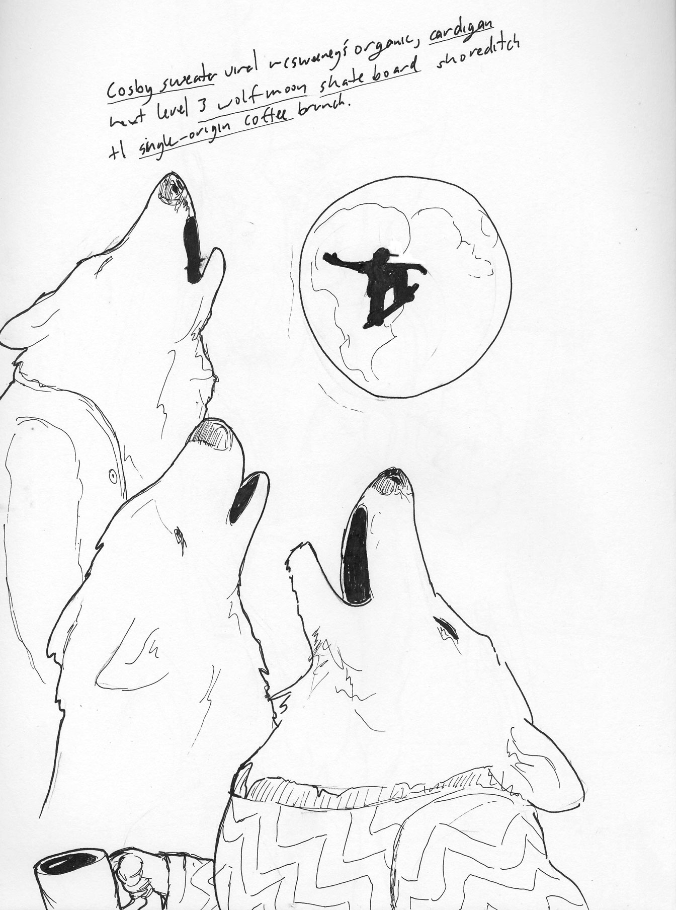 Cool Things Draw Wolves