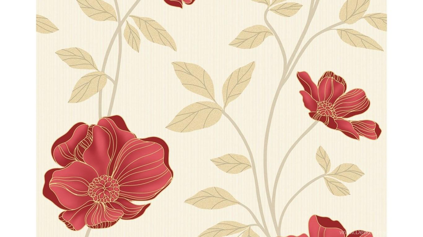 Beige Pattern Wallpaper