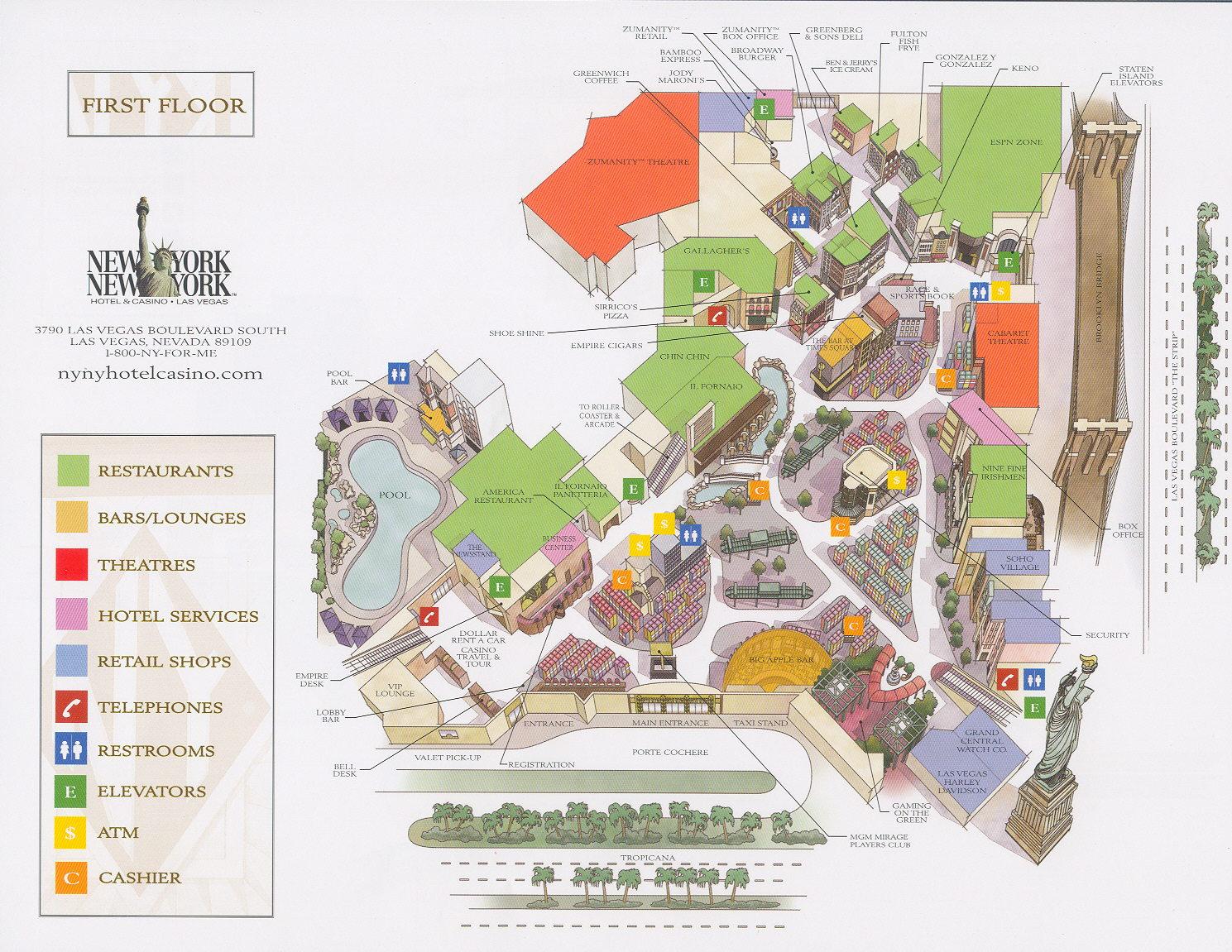 Hampton Inn Tropicana Map