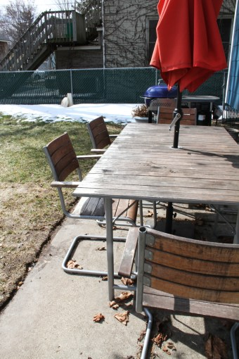Giving New Life to my Ikea Outdoor Furniture   Deuce Cities Henhouse Weathered Ikea Acacia Wood Furniture