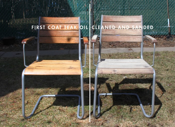 Giving New Life to my Ikea Outdoor Furniture   Deuce Cities Henhouse Weathered Ikea Acacia Wood Furniture Before and After Teak Oil